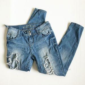 Wallflower Distressed Denim Jeans Juniors Size 7